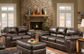 1854031870BCSL Ace Sofa + Loveseat with 16 Gauge Border Wire, Hi-Density Foam Cores, Sinuous Springs, Sewn Pillow Cushions and Solid Kiln Dried Hardwoods in Blackjack Cocoa
