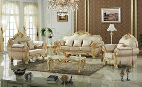 Milan 657-S-L-C 3 Piece Living Room Set with Sofa + Loveseat and Chair in Lacatta