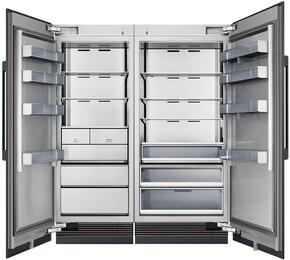 "66"" Panel Ready Side-by-Side Column Refrigerator Set with DRZ30980LAP 30"" Left Hinge Freezer, DRR36980RAP 36"" Right Hinge Refrigerator, and Installation Kit"