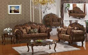 Sheraton 681-S-L-C-CH 4 Piece Living Room Set with Sofa + Loveseat + Chair and Chaise in Cherry