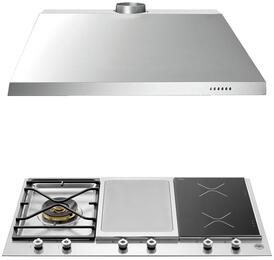 "2-Piece Stainless Steel Kitchen Package with PM361IGX 36"" Segmented Cooktop and KU36PRO1X14 36"" Canopy Hood"