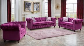 Cosmos Furniture CAMILAPURPLEVELVETSET