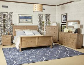 Slater Mill Collection 943KSBDMNC 5-Piece Bedroom Set with King Bed, Dresser, Mirror, Nightstand and Chest in Medium Brown