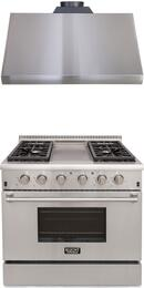 Professional Series 2-Piece Stainless Steel Kitchen Package with KRG3609U 36