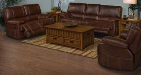 2030330NCHSLR Wyoming 3 Piece Manual Recline Living Room Set with Sofa, Loveseat and Recliner, in Chestnut