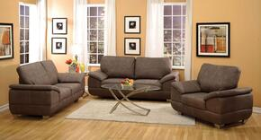Corliss Collection 5167GSLC 3-Piece Living Room Set with Sofa, Loveseat and Chair in Gray Nubuck