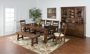 Tuscany Collection 1316VMDT6SC2AC 9-Piece Dining Room Set with Dining Table, 6 Side Chairs and 2 Arm Chairs in Vintage Mocha Finish