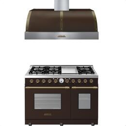2-Piece Brown Matte with Bronze Accent Kitchen Package with RD482SCMB 48