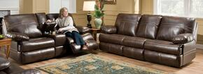 Miracle Saddle 50981-0363 2 Piece Set including  Sofa  and Loveseat with Stitched Detailing and Overstuffed Pillow Arms in Brown