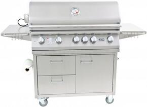 90814KIT L90000 L90000 Premium Gourmet Grill with Rotisserie, Smoker Box, Griddle, and Extra Large Temperature Gauge with Matching Cart, in Stainless Steel: Liquid Propane
