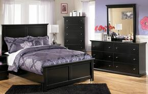 Maribel Twin Bedroom Set with Panel Bed, Dresser, Mirror and Chest in Black