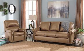 Lottie DuraBlend 380022536SET 2-Piece Living Room Set with Rocker Recliner and Full Sofa Sleeper in Almond