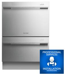 """DD24DDFTX7 24"""" Semi-Integrated Dishwasher and Professional Service Installation"""