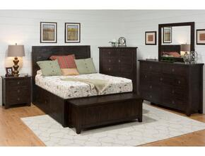Kona Grove Collection 707-959687KTSET 6-Piece Bedroom Set with King Storage Bed, Blanket Chest, Nightstand, Dresser, Mirror and Chest
