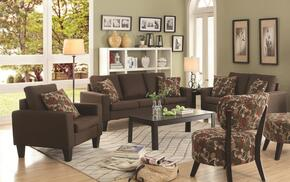 Bachman 504767SLC 3 PC Living Room Set with Sofa + Loveseat + Chair in Chocolate Color