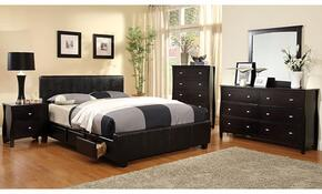 Burlington Collection CM7009QSBDMCN 5-Piece Bedroom Set with Queen Storage Bed, Dresser, Mirror, Chest, and Nightstand in Espresso Finish