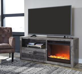 Derekson Collection W200-68F02 2-Piece Set with TV Stand and W100-02 Fireplace Insert in Grey