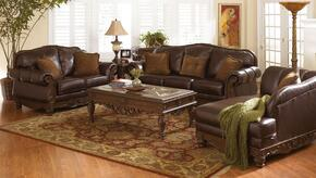 North Shore 22603KIT6PC3 6-Piece Living Room Set with Sofa, Loveseat, Chaise, Cocktail Table, End Table and Sofa Table in Dark Brown