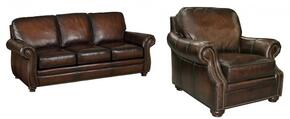 SS186 2-Piece Living Room Set with Sedona Chateau GS Sofa and Chair in Dark Brown