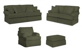 Emily 6262SLCO/4022-95 4-Piece Living Room Set with Sofa, Loveseat, Chair and Ottoman in 4022-95 Grey