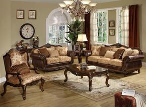 Remington Collection 50155SET 6 PC Living Room Set with Sofa + Loveseat + Chair + Coffee Table + End Table + Sofa able in Cherry Finish