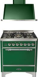2-Piece Emerald Green Kitchen Package with UMC76DMPVSX 30