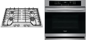 "2-Piece Kitchen Package with FGGC3047QS 30"" Gas Cooktop, and FGEW3065PF 30"" Electric Single Wall Oven in Stainless Steel"