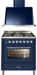 2-Piece Midnight Blue Kitchen Package with UMT76DMPBL 30