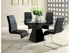 Mauna Collection CM8371BKTDT4SC 5-Piece Dining Room Set with 45