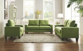 Newbury Collection G476ASET 3 PC Living Room Set with Modular Sofa + Loveseat + Armchair in Green Color
