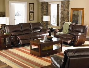 600281SET2 Clifford Rocker Recliner 2-Pc Sofa Set in Brown Finish