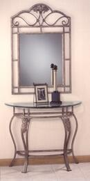 40544OC2PC Bordeaux 2PC Living Room Set with Console Table and Mirror in Pewter Powder Coat Finish