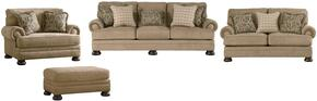 Keereel Collection 38200SLCO 4-Piece Living Room Set with Sofa, Loveseat, Chair and a Half and Ottoman in Sand