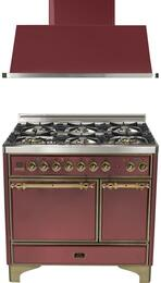 2-Piece Burgundy Kitchen Package with UMCD1006DMPRBY 40