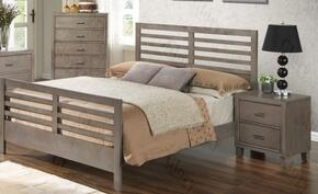 G1205CTB2CHN 3 Piece Set including Twin Bed, Chest and Nightstand  in Gray