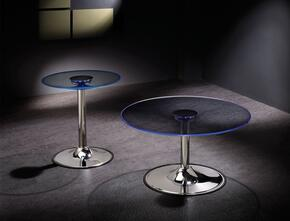701498CE 2 PC Living Room Table Set with LED Coffee Table + LED End Table in Chrome Color