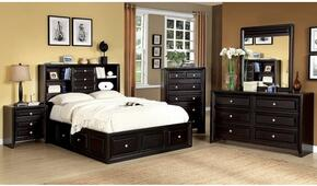 Yorkville Collection CM7059KSBDMCN 5-Piece Bedroom Set with King Storage Bed, Dresser, Mirror, Chest and Nightstand in Espresso Finish