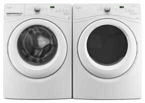 "White Front Load Laundry Pair with WFW7590FW 27"" Washer and WGD7590FW 27"" Gas Dryer"