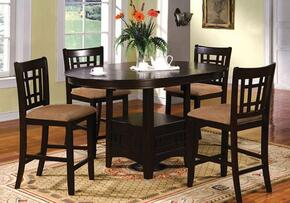 Metropolis Collection CM3032PT4PC 5-Piece Dining Room Set with Oval Counter Height Table and 4 Counter Height Side Chairs in Espresso Finish