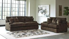Bisenti 65306-38-35 2-Piece Living Room Set with Sofa and Loveseat in Chocolate Brown