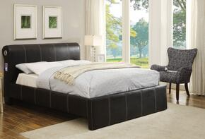 Israel 25247EK2PC Bedroom Set with Eastern King Size Bed + Accent Chair in Black Color