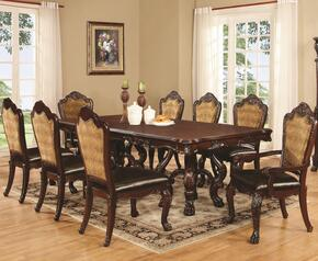 Benbrook 105511TC 9 PC Dining Room Set with Dining Table + 6 Side Chairs + 2 Armchairs in Dark Cherry Finish