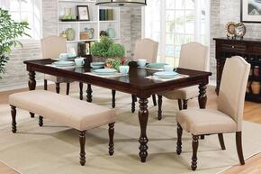 Hurdsfield Collection CM3133T4SCBN 6-Piece Dining Room Set with Rectangular Table, 4 Side Chairs and Bench in Antique Cherry