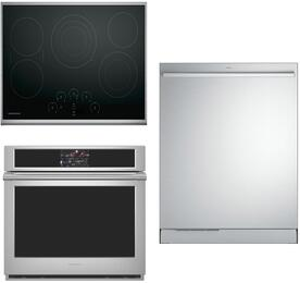 "3-Piece Stainless Steel Kitchen Package with ZEU30RSJSS 30"" Electric Smoothtop Style Cooktop,ZET9050SHSS 30"" Single Wall Oven, and ZDT915SSJSS24"" Fully Integrated Dishwasher"