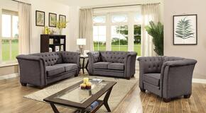 G325SET 3 PC Living Room Set with Sofa + Loveseat + Armchair in Grey Color