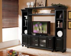 911003 Ferla Entertainment Center with TV Stand Included in Black Finish