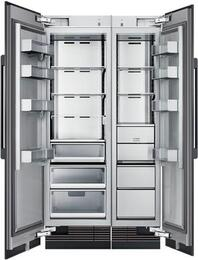 "42"" Panel Ready Side-by-Side Column Refrigerator Set with DRZ18980RAP 18"" Right Hinge Freezer, DRR24980LAP 24"" Left Hinge Refrigerator, and Installation Kit"