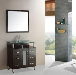 9142a 36 Modern Single Bathroom Vanity Cabinet Tempered Gl Top With Mirror Write A Review