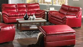 Soho 9515-0302095 3 Piece Set including  Sofa, Loveseat and Ottoman  with  Bonded Leather  in Cardinal
