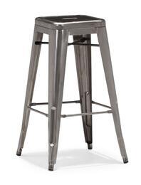 106110SET Marius Collection Set of 2 Modern Bar Chairs in Gunmetal